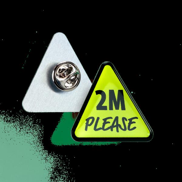 Britishmade aluminium clutch pin badge