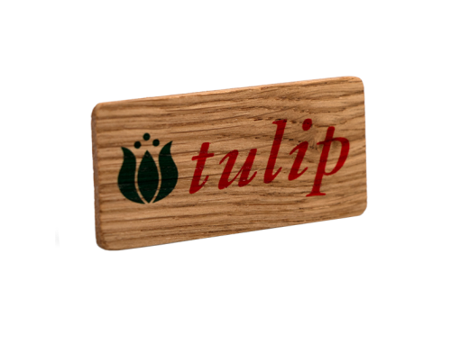 Solid Oak Printed Promo Badge