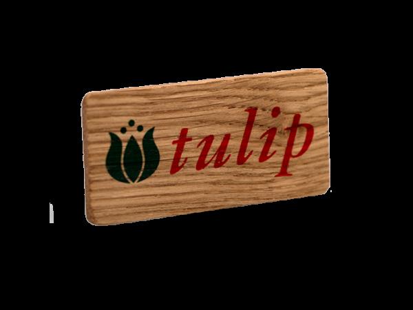 Solid Oak Printed Promo Badge