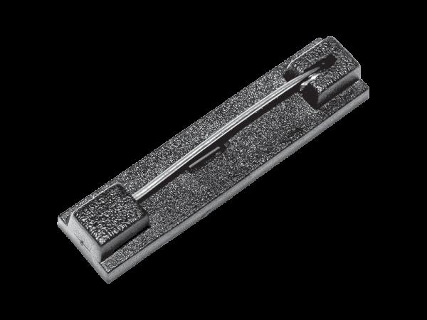 die cut card badge bar pin