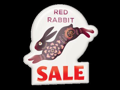shaped plastic promotional badge