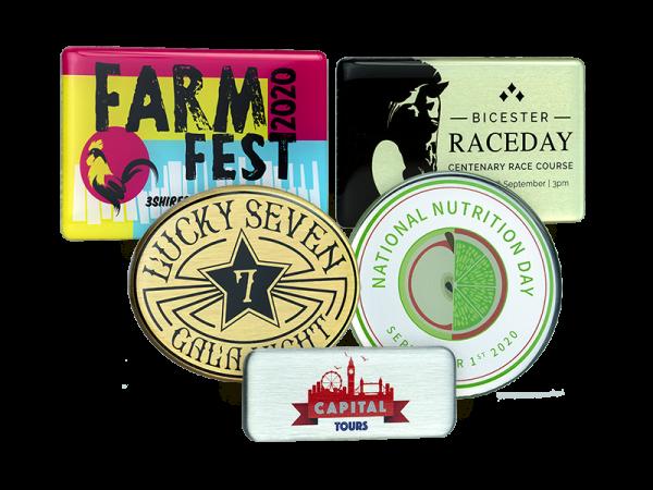 Metal promotional badges