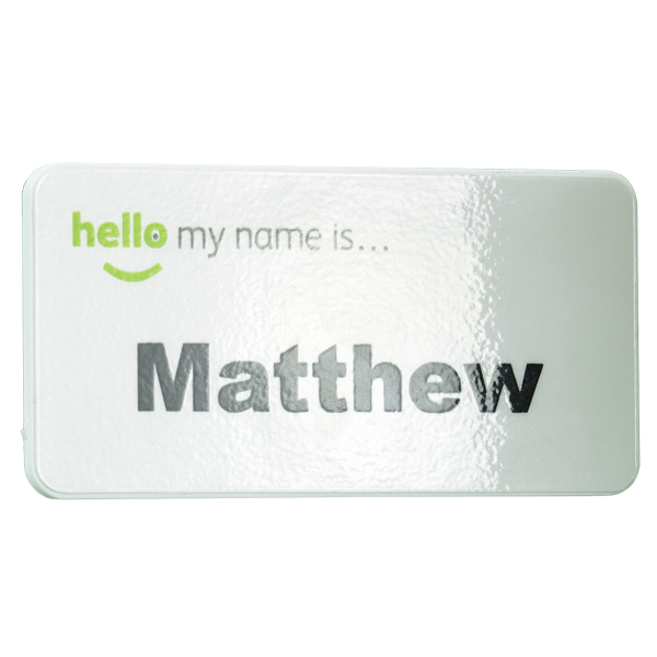 keepsafe antimicrobial name badge gloss finish