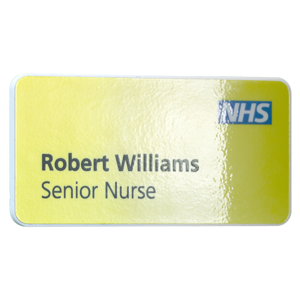 Keepsafe antimicrobial name badge matte