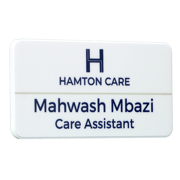 Keepsage antimicrobial name badge matt finish