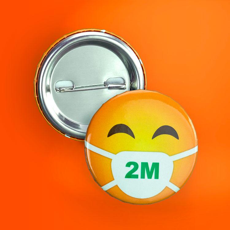 social distancing button badges
